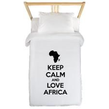 Keep calm and love Africa Twin Duvet for