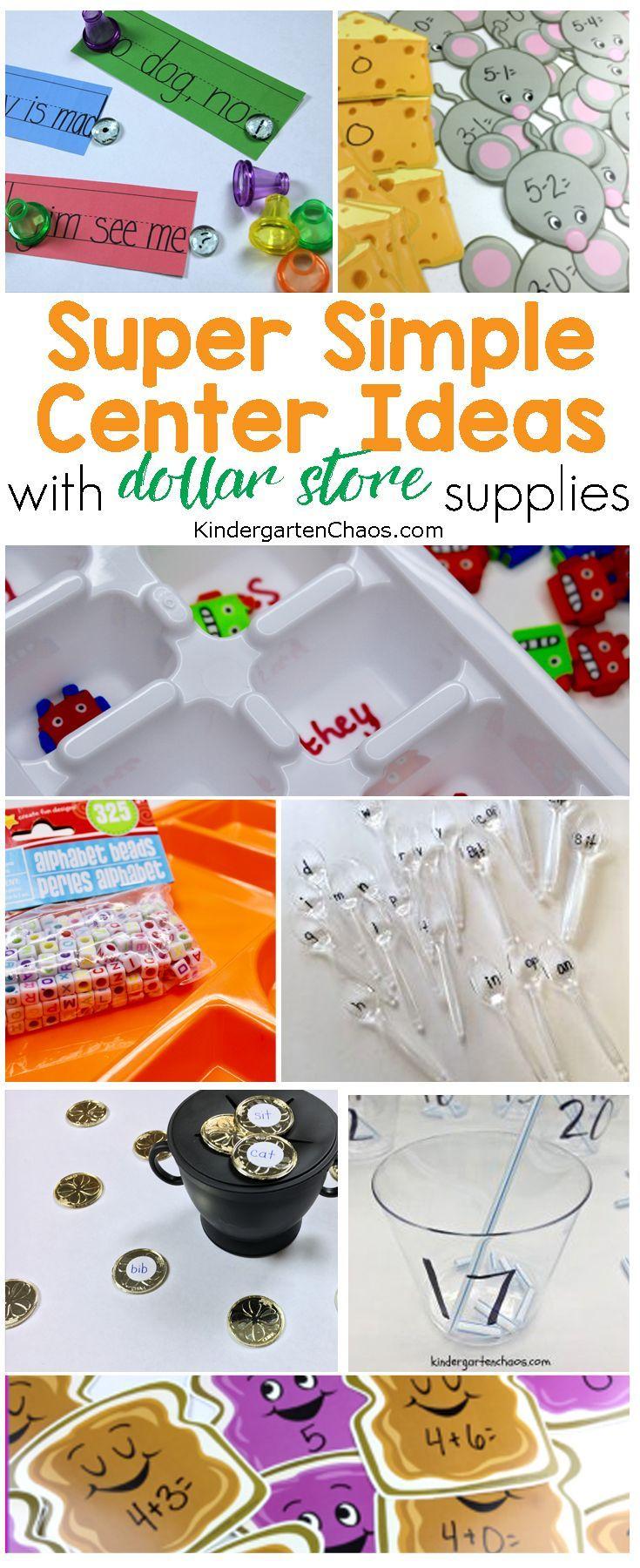 Super Fun Kinder Center Ideas With Dollar Store Supplies
