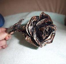 Кованые цветы из туалетной бумаги, МК