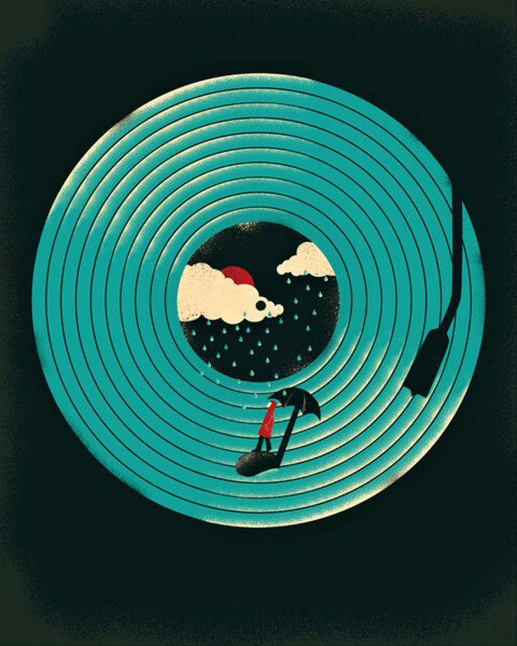 Jay Fleck - Songs for a Rainy Day Vinyl Art