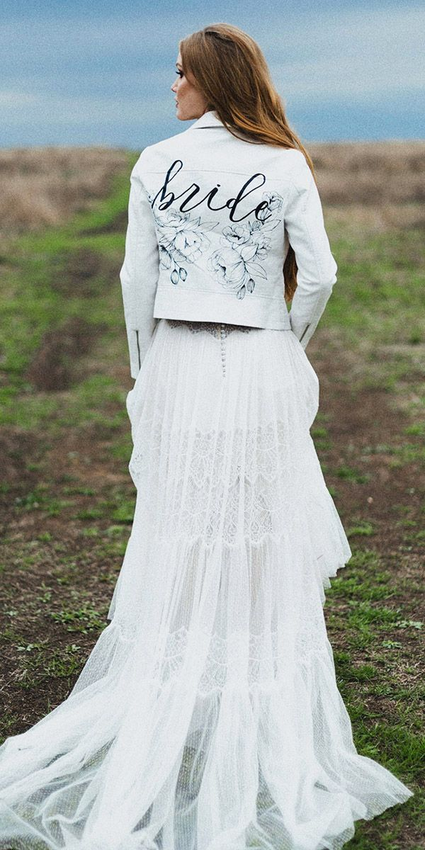44 Best Bridal Leather Denim Jackets Images On Pinterest