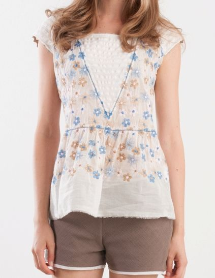 blouse flower knitwear summer easyandchic #momoé #summer #t-shirt #blouse