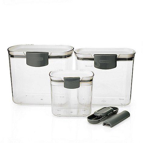 456-870- Progressive Prep Works ProKeeper Mini, Brown & Powdered Sugar Containers
