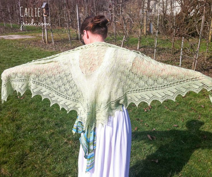 Friday Freebie - Callie Lace shawl Knitting Pattern
