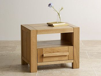 Fresco Natural Solid Oak Bedside Table