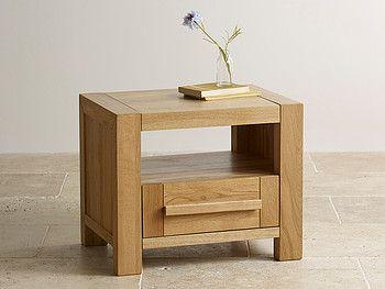 Fresco Natural Solid Oak Bedside Table