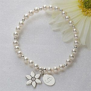 Flower Girl Personalized Bracelet