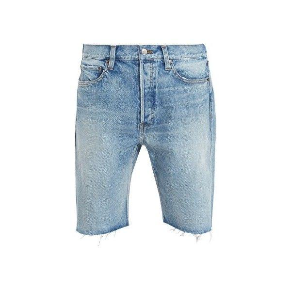 Balenciaga Raw-edge denim shorts ($550) ❤ liked on Polyvore featuring men's  fashion, men's clothing, men'… | Mens blue jean shorts, Mens jean shorts,  Clothes design