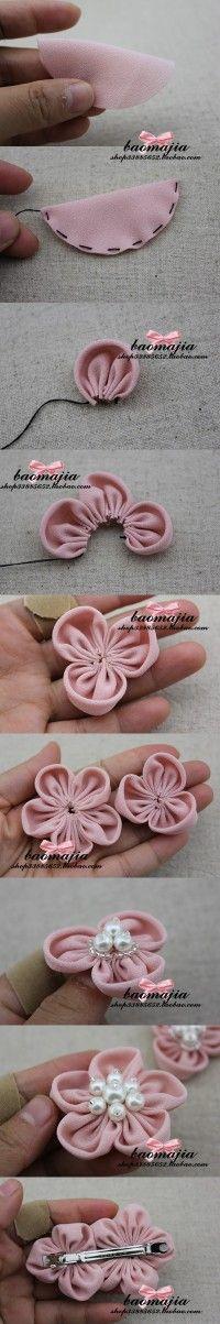 Fleur en tissu / Fabric flower