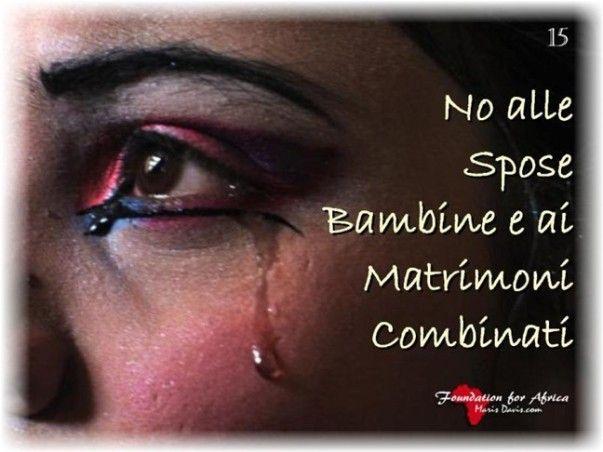 """Campagne di sensibilizzazione e Progetti. """"No alle Spose Bambine e ai Matrimoni Combinati"""" - https://www.facebook.com/Foundation4Africa/photos/a.655838154488546.1073741830.655775184494843/841839672555059/?type=3&theater"""