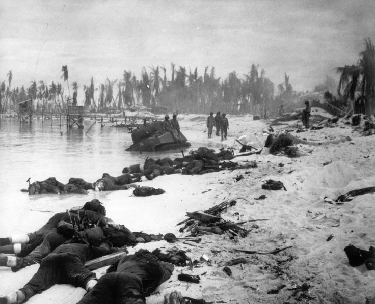 http://www.businessinsider.com/battle-of-tarawa-in-wwii-the-toughest-battle-in-marine-corps-history-2017-11/#japanese-commanders-concentrated-their-forces-on-betio-a-strongly-defended-island-at-the-southwest-corner-of-the-atoll-planning-to-destroy-us-transports-at-sea-and-then-concentrate-all-fires-on-the-enemys-landing-point-and-destroy-him-at-the-waters-edge-the-island-was-estimated-to-have-a-garrison-of-4800-men-more-than-half-of-them-first-rate-troops-2