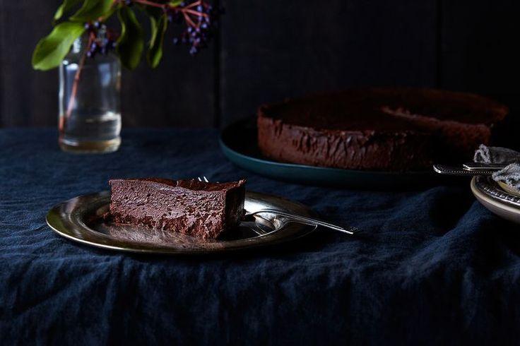 Rose Levy Beranbaum's Chocolate Oblivion Truffle Torte recipe on Food52 - My birthday CAKE!