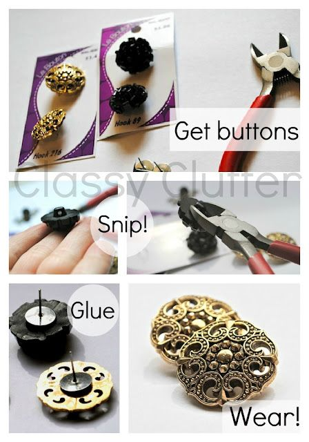 Easy DIY Earrings ...how did I never think of this??