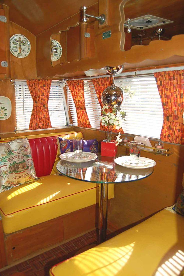 Retro camper curtains - Vintage Camper Interiors Vintage Shasta Trailer Interiors From Oldtrailer Com