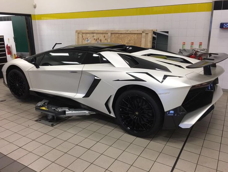 Lamborghini Aventador Super Veloce Roadster Painted In Matte White Photo  Taken By: @mad.