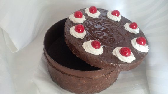 CAKE IS A LIE Large Faux Cherry Topped Chocolate by ReadyMadeGifts, $39.99. Would make a beautiful gift!