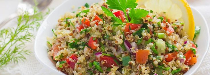 Try our SlimGenics Recipes with quinoa! This grain is a great healthy source of protein and fiber. Quinoa so is versatile and can be used for any meal.