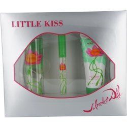 LITTLE KISS by Salvador Dali Gift Set for WOMEN: EDT SPRAY 3.4 OZ & BODY LOTION 3.4 OZ & EDT SPRAY .27 OZ MINI by LITTLE KISS. $39.95. Fragrance Notes: tea rose, davana, patchouli, peony, red currant, cyclamen, wild rose, peach, sandalwood, musk, black currant buds. Design House: Salvador Dali. LITTLE KISS by Salvador Dali for WOMEN EDT SPRAY 3.4 OZ & BODY LOTION 3.4 OZ & EDT SPRAY .27 OZ MINI Launched by the design house of Salvador Dali in 2008, LITTLE KISS by Salva...