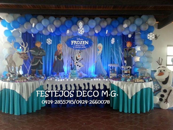 The 25 best decoracion de frozen ideas on pinterest - Centros de mesa para cumpleanos ...