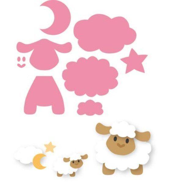 *Kartengestaltung*Baby*Anhänger*Eline's Sheep*Marianne Design*  *Schaf*Collectables*8 Stanzen*