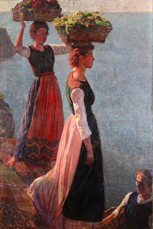 Llewelyn Lloyd: La vendemmia a Manarola, 1904