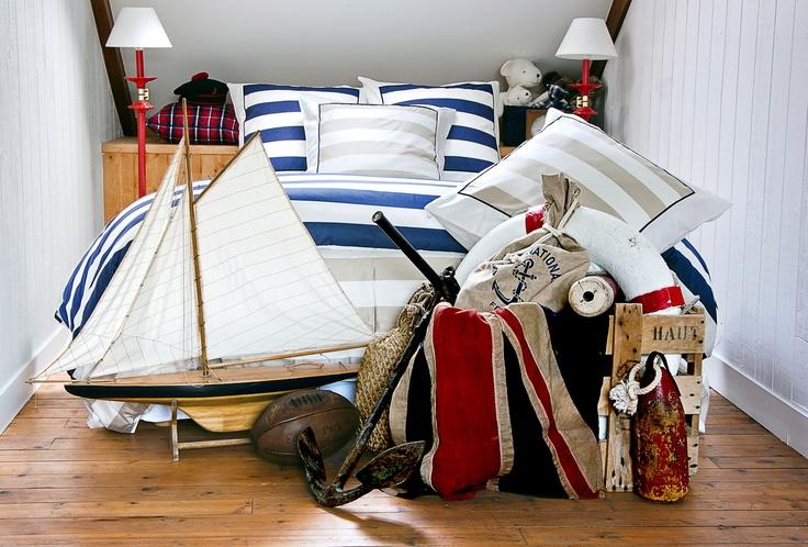 linge de maison parure de lit esprit marin eden park linge de maison pinterest parcs et. Black Bedroom Furniture Sets. Home Design Ideas