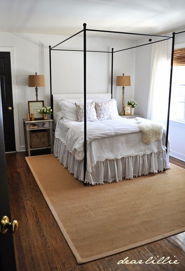 White Gloss Bedroom Furniture: Our Home By Dear Lillie---Guest Bedroom: Trim Color
