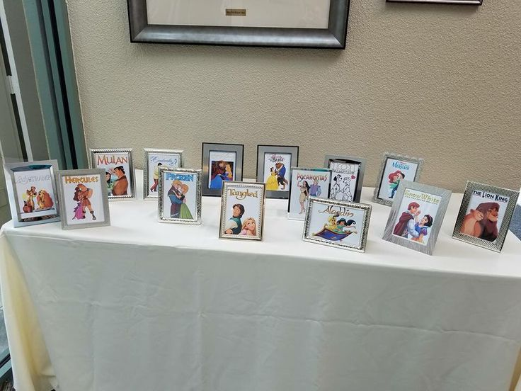 Great wedding idea. Disney table names instead of table numbers