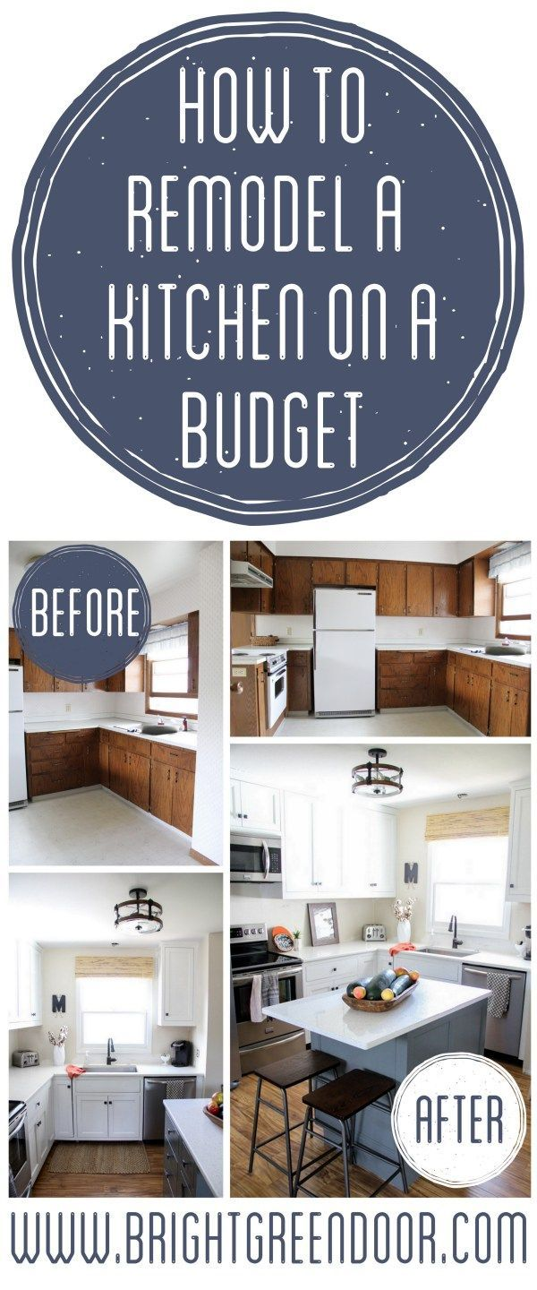Remodeling kitchen cabinets on a budget - Best 25 Budget Kitchen Remodel Ideas On Pinterest Cheap Kitchen Remodel Farm Kitchen Interior And Cheap Kitchen Countertops