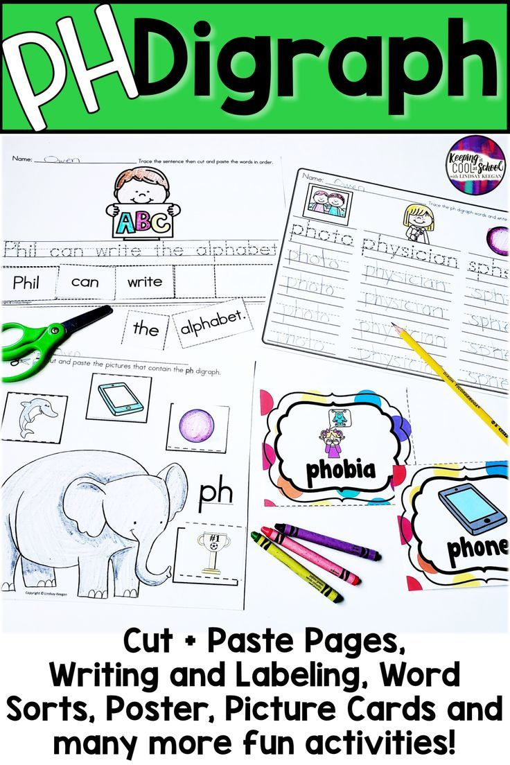 Ph Digraph Beginning Middle And Ending Sounds First Grade Reading Kindergarten Reading Digraph