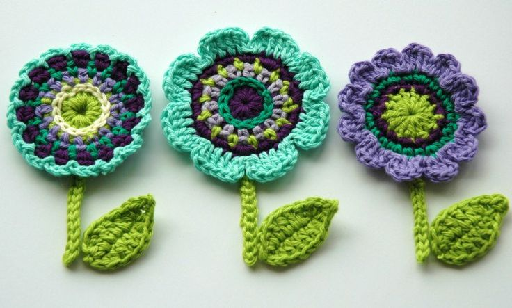Crochet Flower Motifs Crochet Garden Series by AnnieDesign