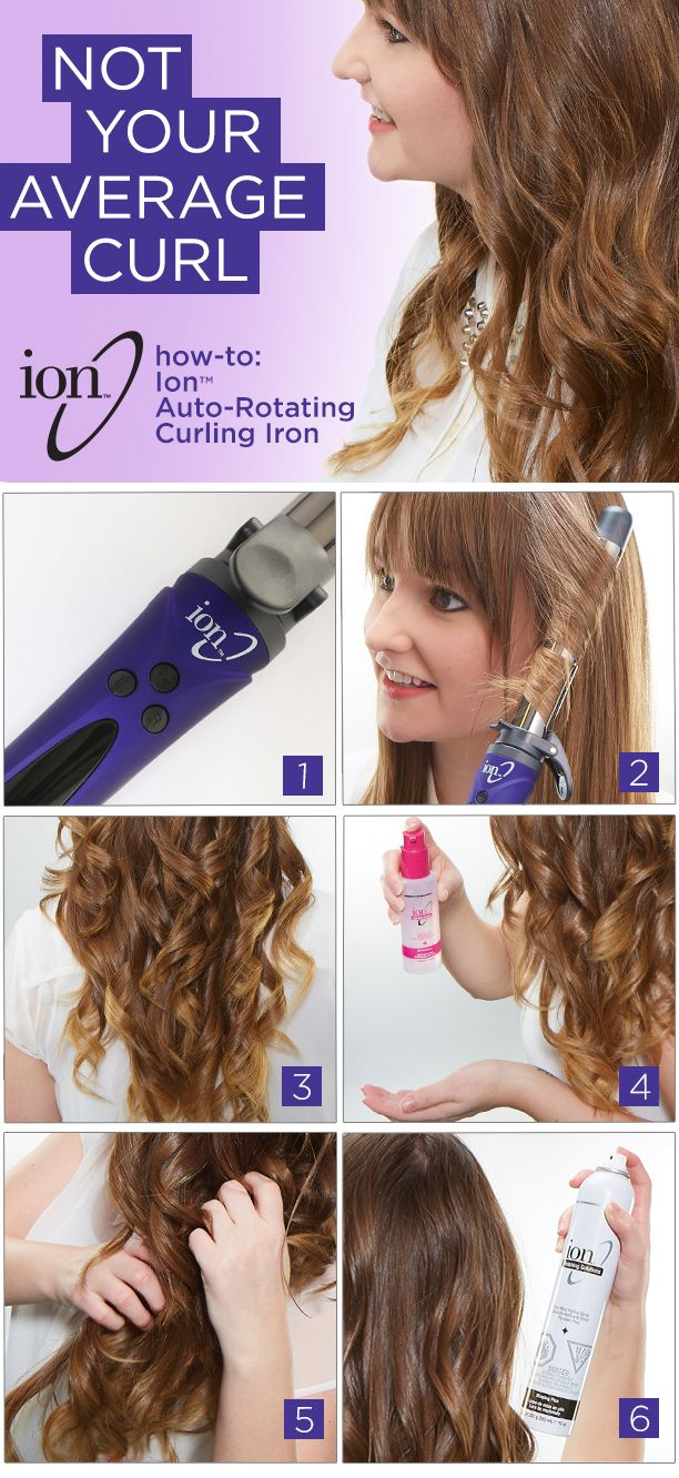 Learn how to curl your hair in minutes with the Ion Titanium Auto-rotating Curling Iron #SallyBeauty