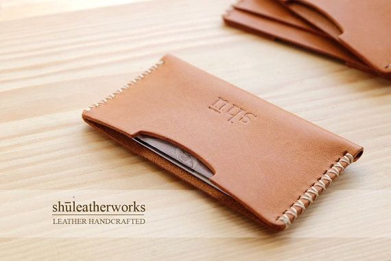 Leather credit card wallet/ Card case /Card holder/Personalized Card case/ Slim Card Case on Etsy, ฿716.67