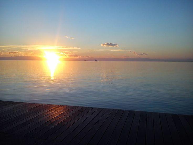 Nea Paralia Sunset, Thessaloniki, Greece.