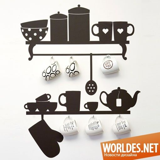 Оригинальные наклейки для кухни фото 1