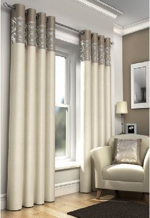 New York Natural - Lined Eyelet Curtains This is a modern looking eyelet curtain that will finish off the look of your room. Matching cushion covers are also available with these curtains. The New York Design is also available in Black, Red  http://www.MightGet.com/january-2017-12/new-york-natural--lined-eyelet-curtains.asp