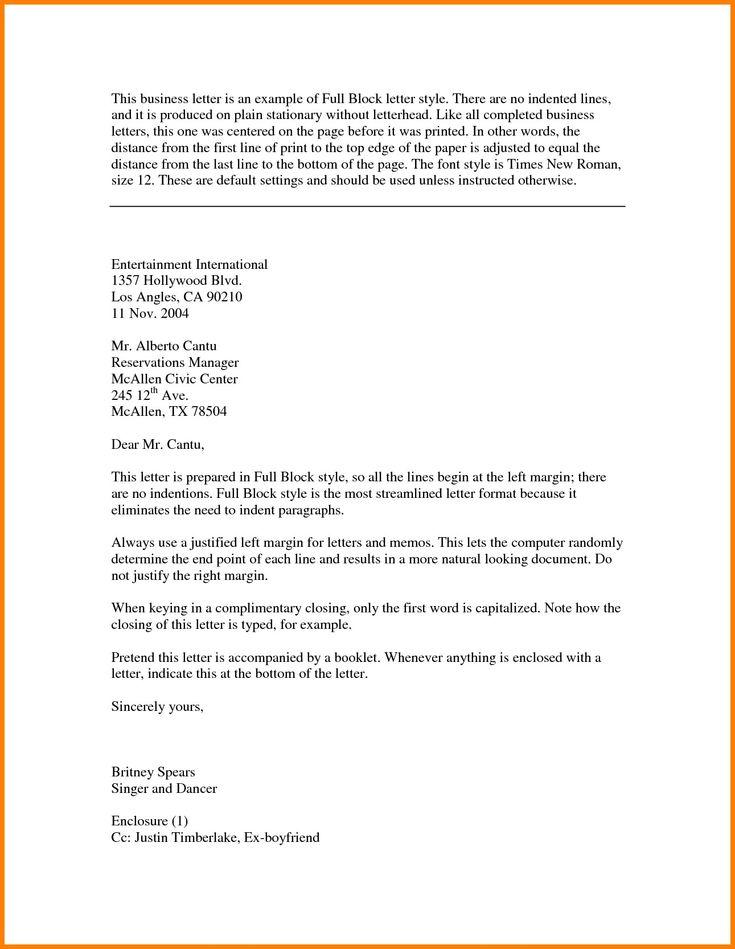 Best Refrence New Sample Letter Full Block Format By Httpwaldwert Visit Details Http H Business Letter Template Business Letter Format Letter Template Word