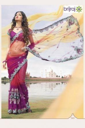 Brijraj Exclusive Magenta & Purple Saree