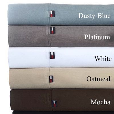 Tommy Hilfiger Solid T300 Sateen Cotton Sheet Sets from Beddingstyle.com