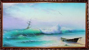 Бирюзовые волны моря - Морской пейзаж <- Картины маслом <- Картины - Каталог | Универсальный интернет-магазин подарков и сувениров