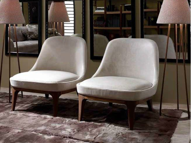 UPHOLSTERED LEATHER ARMCHAIR DORY | ULIVI SALOTTI