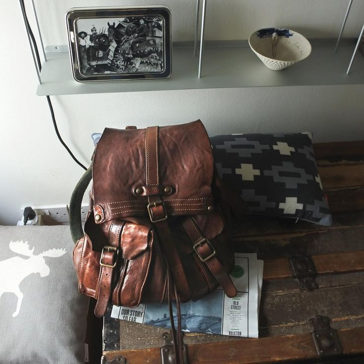 #Campomaggi backpack in genuine leather