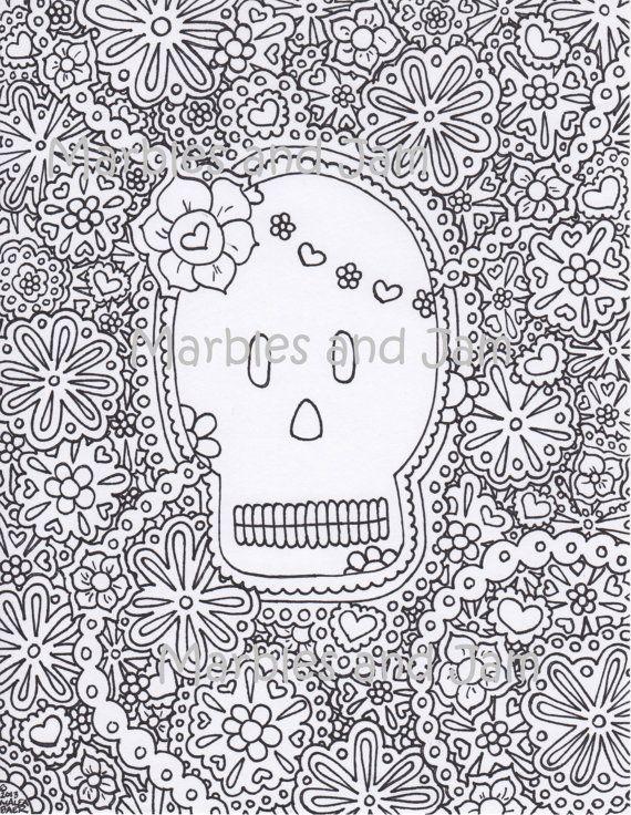 27 best Yoop Day of the Dead images on Pinterest Skulls, Sugar - copy dia de los muertos mask coloring pages
