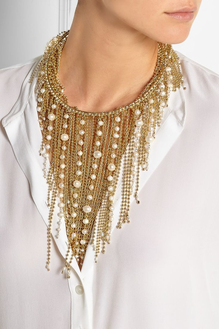 Rosantica | Petardi gold-tone pearl necklace | NET-A-PORTER.COM
