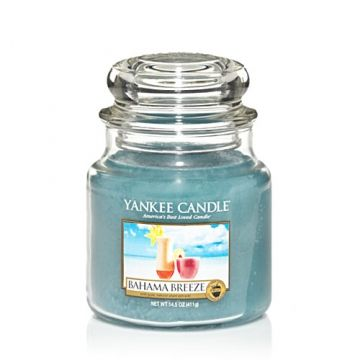Bahama Breeze by Yankee Candle.  I am thinking of a warm vacation!  Reminiscent of summer refreshment with a tropical blend of pineapple, grapefruit, and mango.
