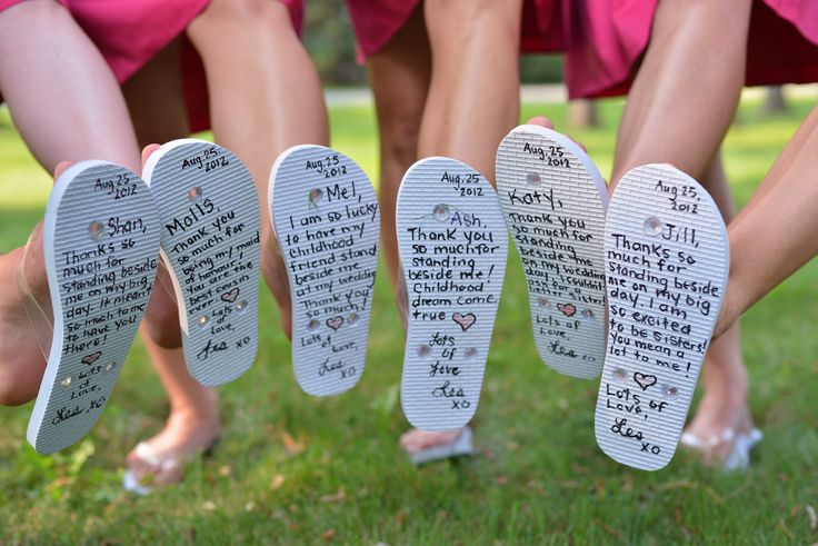 Flip Flop Gift Idea for Bridesmaids