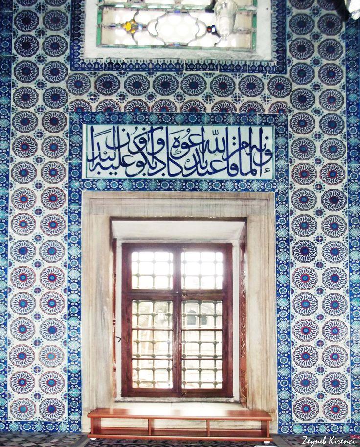 Rustempasa Mosque, Istanbul (November, 2015). #mosque #ceramic #tile #detail #tileart #wood #window #architecture #art
