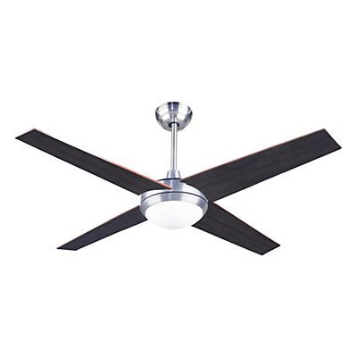 Ventilateur Hawai nickel satiné   1 x R7S - 100W   36-51,5 cm x Ø 132 cm