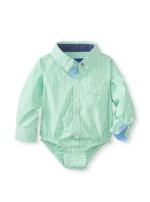 47% OFF Beetle & Thread Kid's Basic Gingham Shirtzie (Green)