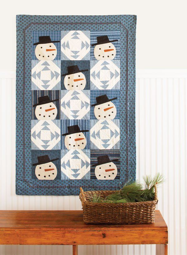 When it's cold outside, stay inside and make this easy, folk art inspired,  appliquéd wall hanging.
